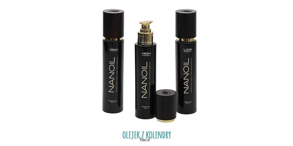 Olejki Nanoil do włosów nisko średnio i wysokoporowatych
